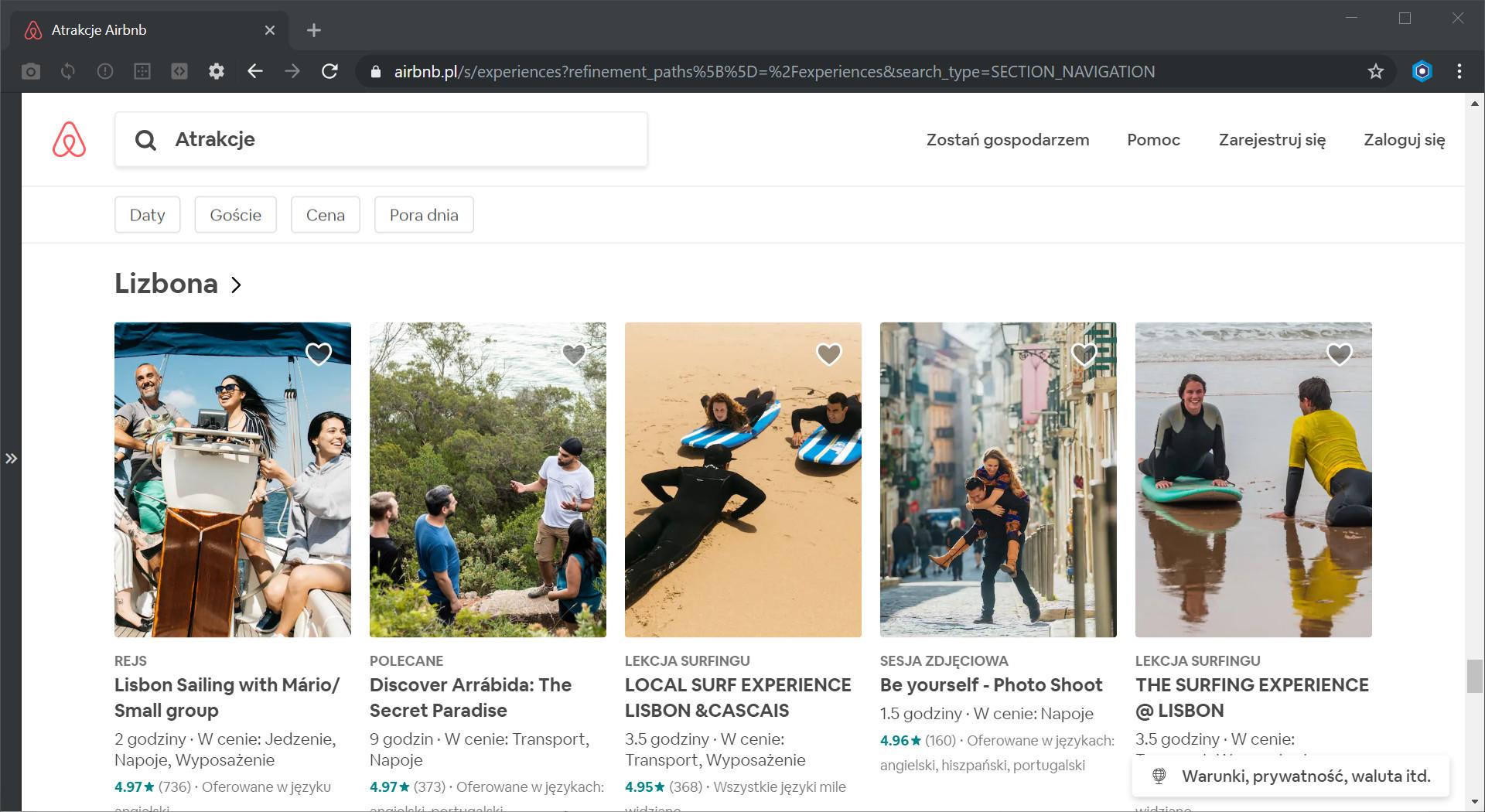Airbnb atrakcje w Lizbonie