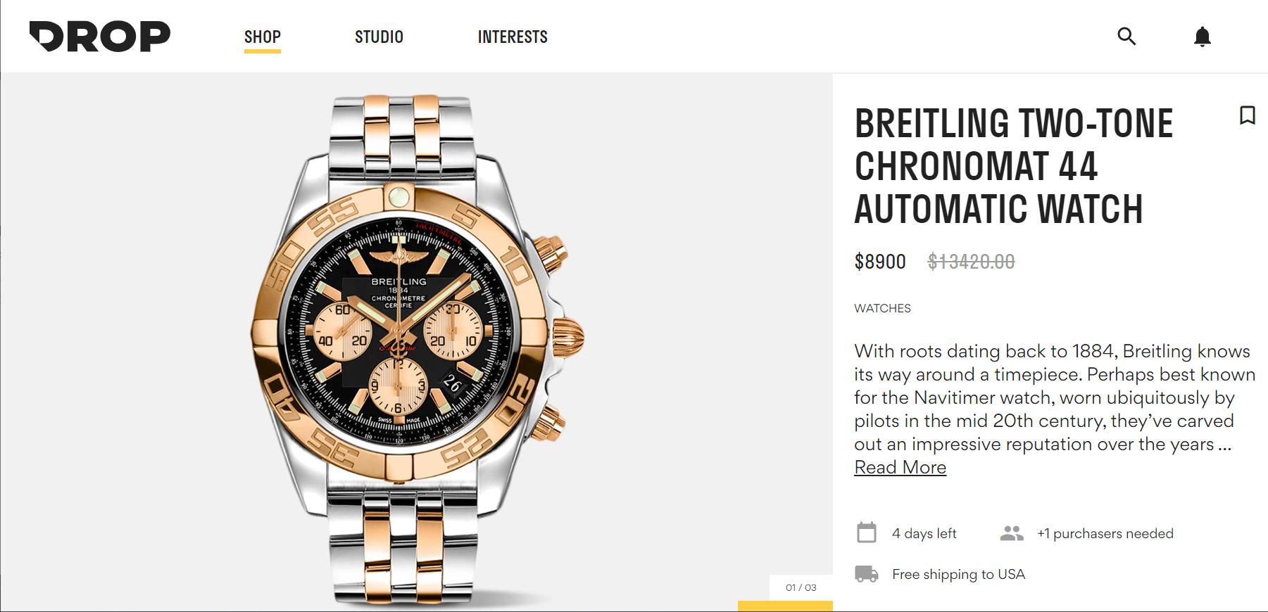 Zegarki Breitling na DROP